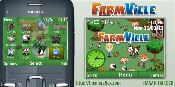 FarmVille theme for Nokia X2-01 | Hasan Baloch