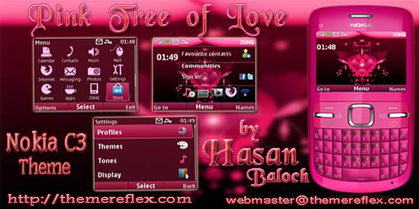 Love Wallpaper Nokia X2 01 : Pink theme for Nokia c3 Hasan Baloch
